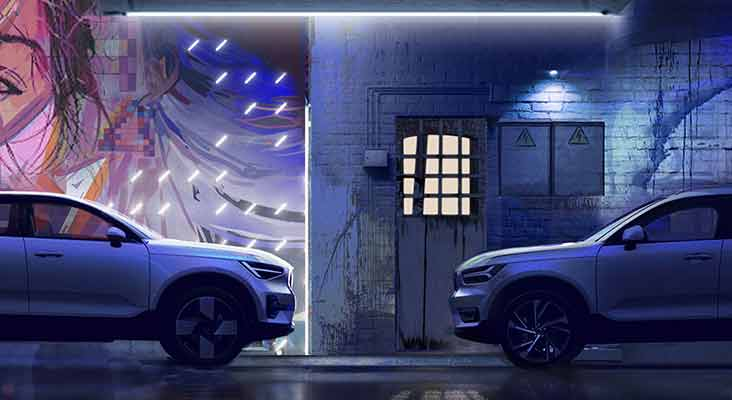 Volvo C40 Recharge dizaina stāsts